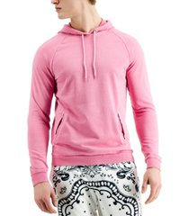 inc international concepts men's garment-dyed french terry hoodie, created for macy's