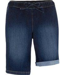 bermuda di jeans elasticizzati con cinta comfort (nero) - bpc bonprix collection