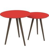 conjunto de mesa redondo pinoquio vermelho