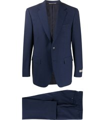 canali woven two-piece suit - blue