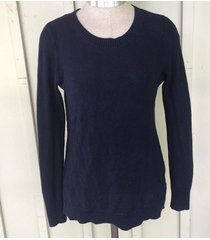 nwt large women's  gap navy blue waffle knit sweater new ladies fall