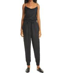 women's cinq a sept finnley twill jumpsuit, size x-small