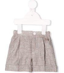 il gufo linen knit shorts - brown