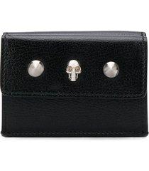 alexander mcqueen skull mini wallet - black