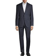 boss hugo boss men's comfort-fit reda wool-blend suit - navy - size 38 r