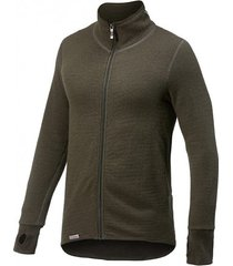 woolpower vest unisex full zip jacket 400 pine green-l
