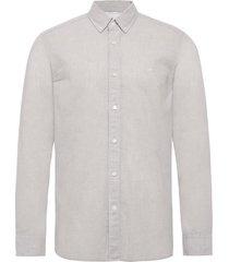 button down cotton l overhemd casual grijs calvin klein