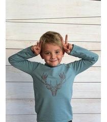koszulka z nadrukiem jelenia