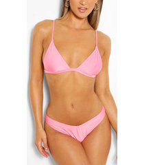 mix & match itsy bitsy bikini top, peach