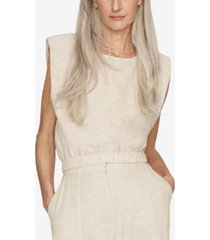 b new york shoulder-pad sleeveless top