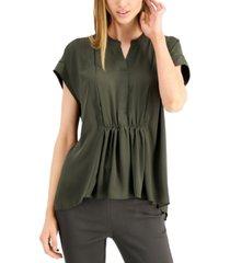 alfani gathered-waist top, created for macy's