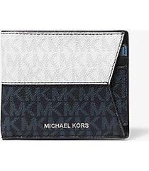 mk portafoglio a libro color block con logo portachiavi e portadocumenti - br w/ad/vtid - michael kors
