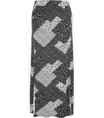 kjol miamoda svart::vit