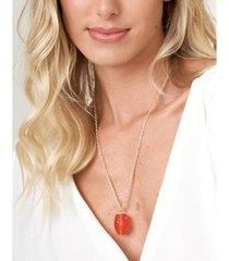 colar zinzane corrente torcido feminino - feminino