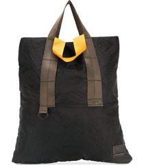 marni crinkle effect tote bag - black