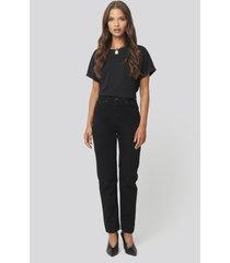 trendyol basic high waist mom jeans - black