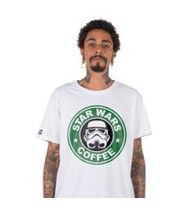 camiseta stoned star wars coffee branca