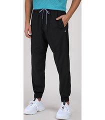 calça masculina esportiva ace relaxed com bolso preta