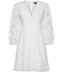 eyelet puff-sleeve mini dress kort klänning vit banana republic