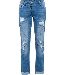 jeans boyfriend sdruciti con poliestere riciclato (blu) - rainbow