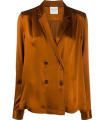 forte forte lightweight shirt-style blazer - brown