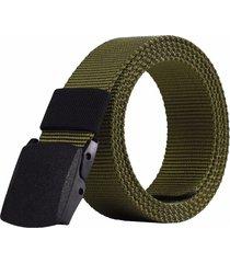 cinturón reata militar nylon hebilla hombre color verde