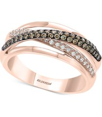 effy diamond overlap statement ring (3/4 ct. t.w.) in 14k rose gold