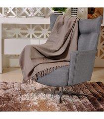 manta capa sofa algodão favo 1,20m x 1,50m cinza - tessi
