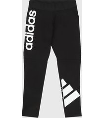 leggings negro-blanco adidas performance must haves colorblock