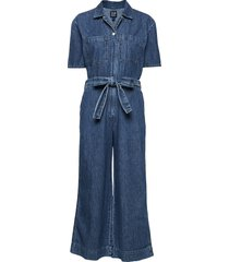 utility tie-belt jumpsuit jumpsuit blå gap