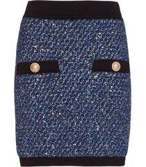 balmain lurex skirt in black