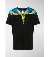 marcelo burlon county of milan feather-print boxy t-shirt