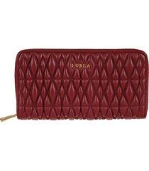 furla quilted zip around wallet