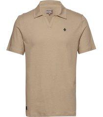 delon ss jersey shirt polos short-sleeved beige morris