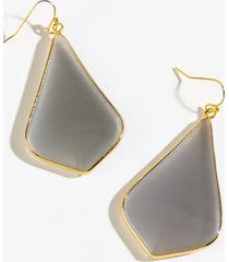 gabriela semi precious teardrop earrings - mint