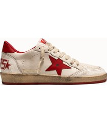 golden goose deluxe brand sneakers ball star colore bianco rosso