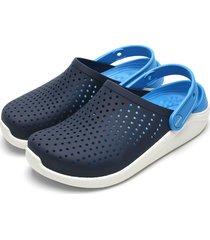 babuche crocs menino literide clog k azul-marinho