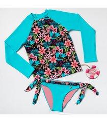 vestido de baño flores estilo rosa phiphi