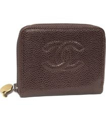 chanel cc caviar leather coin pouch red, bordeau sz: