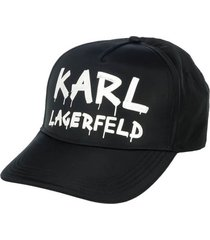 karl lagerfeld k/graffiti black white baseball cap