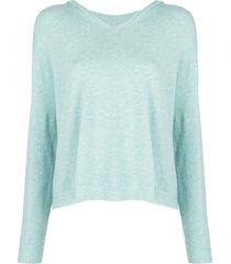 apparis aubrey fine knit hoodie - blue