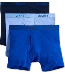 2(x)ist men's underwear, essentials boxer brief 3 pack