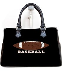 baseball logo custom barrel type handbag