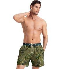 masculino swimwear pantaloneta verde leo 505028