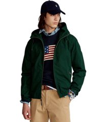 polo ralph lauren men's canvas hooded jacket