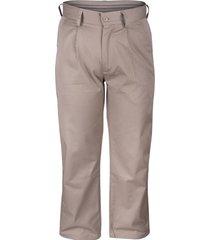 pantalón gabardina beige ejecutivo pinzado rossignol