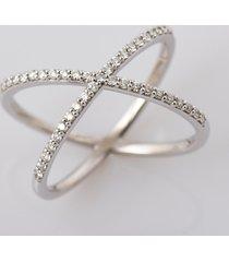 0.30 ct diamond engagement criss cross anniversary ring 14k white gold fn