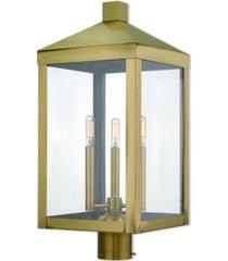 livex nyack 3-light outdoor post top lantern