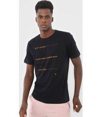 camiseta rip curl black list preta