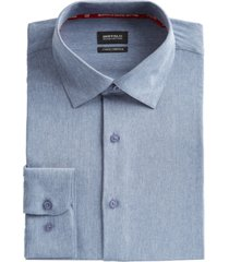 buffalo david bitton men's slim-fit performance stretch chambray dress shirt